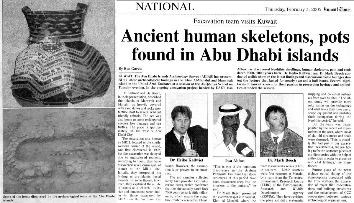 Kuwait Times, 3 February 2005