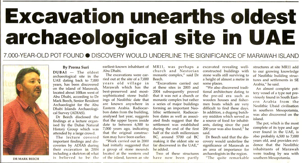 Khaleej Times, 8 February 2005