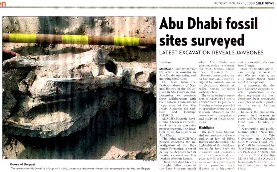 Gulf News, 5 January 2009