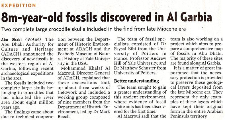 Gulf News, 24 January 2010, page 6